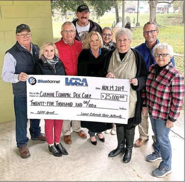 LCRA, Bluebonnet Co-Op award $25,000 grant for improvements to Carmine Park