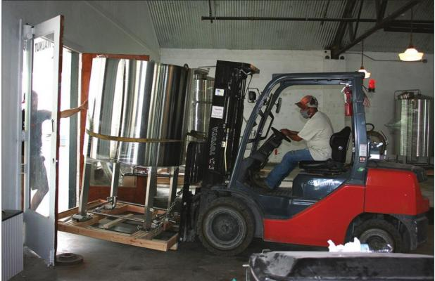Equipment rolls in for Columbus microbrewery