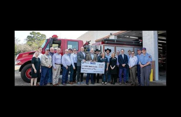 LCRA, Bluebonnet Co-Op awards $25,000 grant to help expand Carmine Fire Station